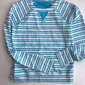 Lululemon Athletica blue & white stripe longsleeve